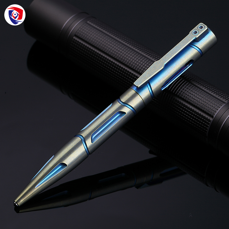2018 Outdoor Titanium alloy Self Defense survival Safety Tactical Pen Pencil With Writing Multi-functional Tungsten Steel Head aluminum alloy tactical pen multi function survival tool waterproof compartment self defense tungsten steel head and whistle