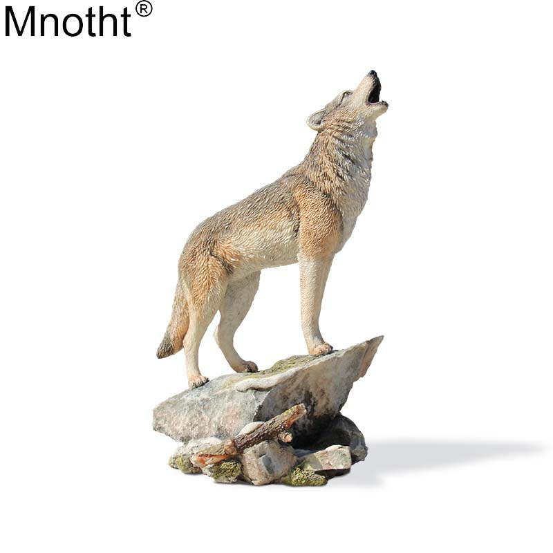 Mnotht 1/6 Canis Lupus Model Wolf Pet Mini Toys Emulation Resin Accessory for Action Figure Collection Gifts Artwork Decoration цена