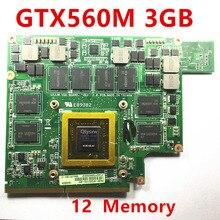 1 個 Mxmiii VGA ビデオカード GTX 560 メートル GTX560M asus G73SW G73JW G53SW G53SX G53JW VX7 3 ギガバイト