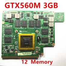 1 PCS Mxmiii VGA videokaart GTX 560 m GTX560M kaart voor ASUS G73SW G73JW G53SW G53SX G53JW VX7 3 GB