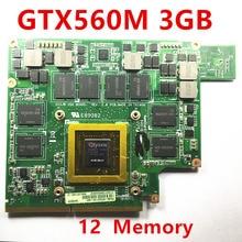 1 pcs mxmiii vga 비디오 카드 gtx 560 m gtx560m 카드 asus g73sw g73jw g53sw g53sx g53jw vx7 3 gb