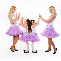 Buenos Ninos Family Fitted Pettiskirts Fluffy Chiffon Tutu Skirts Girls Princess Dance Party Tulle Skirt Free