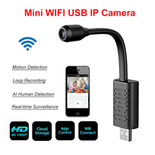 HD Smart Mini Wifi USB Camera Real-time Surveillance IP Camera AI Human Detection Loop Recording Mini camera Support Camcorder gianluca demichelis introduzione ai sistemi real time