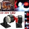 Novo! 2 pcs 10-30 V LEVOU Luz Lateral Marcador Vermelho + Branco Lado Marcador de Luz Do Reboque Universal para Caminhões, reboques, Vans, camião
