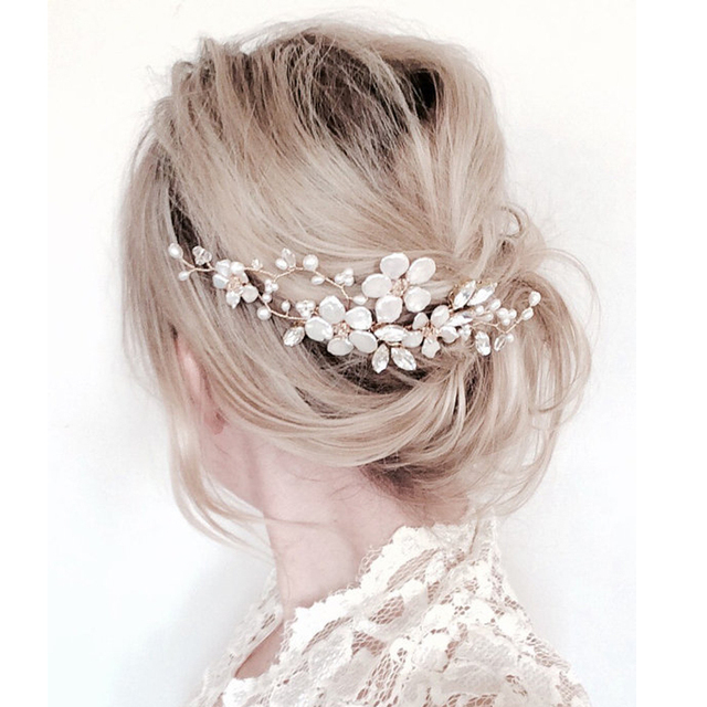Flower Wedding Hair Comb Bridal Jewelry Headpiece Handmade Accessory Bridesmaid Headpieces