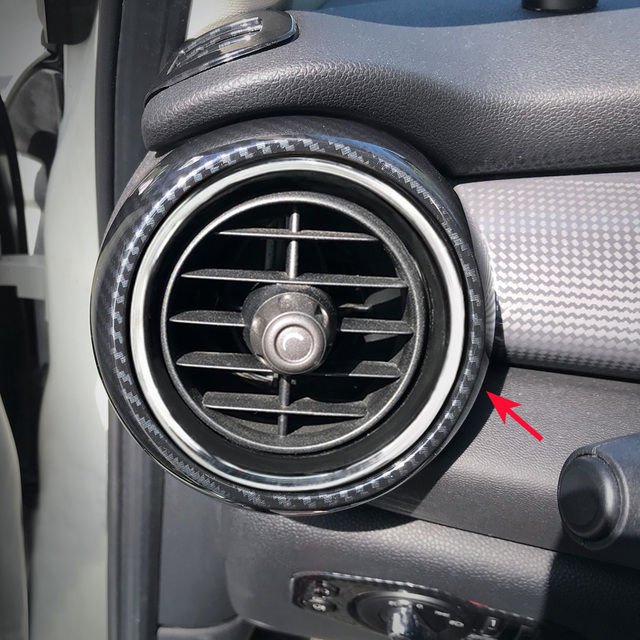 Carbon Fiber Dash Side Air Vent Ring For Mini Cooper S One Hatch Cabrio Interior Dashboard