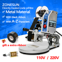 ZONESUN DY 8 Color Ribbon Hot Printing Machine Direct Thermal Foil Manual Stamp Printer Coding Machine