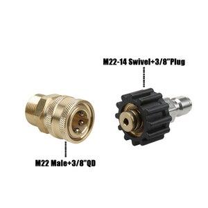 Image 2 - Conjunto de adaptador de arruela de pressão do carro conexão rápida kit, 5000 psi m22 14mm giratória para m22 montagem métrica para mangueira para arma de espuma de neve quente