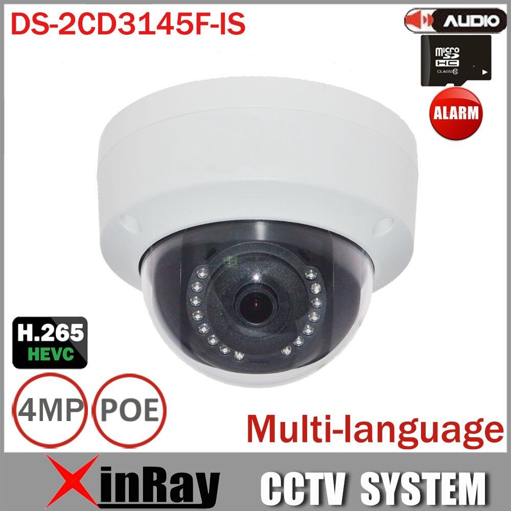 bilder für HIK DS-2CD3145F-IS 4MP H.265 HEVC Ip-kamera mit Tf-einbauschlitz Mini Dome POE IP Cctv-kamera