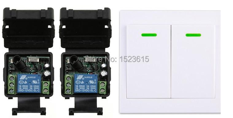 все цены на  New digital Remote Control Switch DC12V 2* Receiver Wall Transmitter Wireless Power Switch 315MHZ Radio Controlled Switch Relay  онлайн