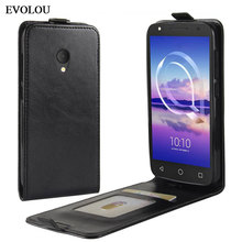 Vertical Flip Leather Case for Alcatel U5 4G 5044 5044D 5044Y Cover UP Down Phone Cases Shell