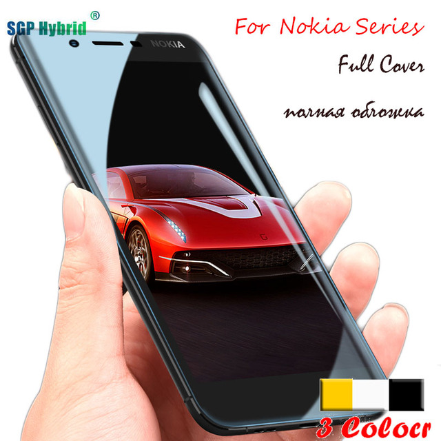 huge selection of 4e26a 24a82 US $1.23 12% OFF|Full Cover For Nokia 5 Glass Tempered Glass For Nokia 3 5  6 7 Screen Protector Film Protection Guard Case Nokia7 Nokia5 Nokia6 -in ...