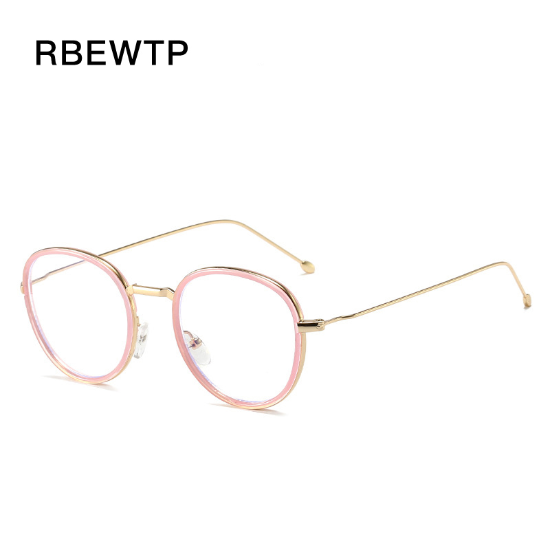 RBEWTP PC+Alloy Anti Blue Light Goggles led Reading Glasses For women Radiation-resistant Computer Gaming Glasses Frame Eyewear