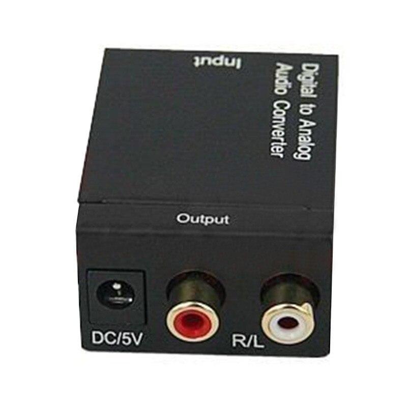 1 Pc Haute Qualité Numérique Optique Toslink ou SPDIF Coaxial à Analogique L/R RCA Audio Converter Adaptateur NOUS Plug