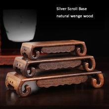 Wenge Wood Carving Base handicraft wooden vase ornaments statues base wings rectangular stone base supporting