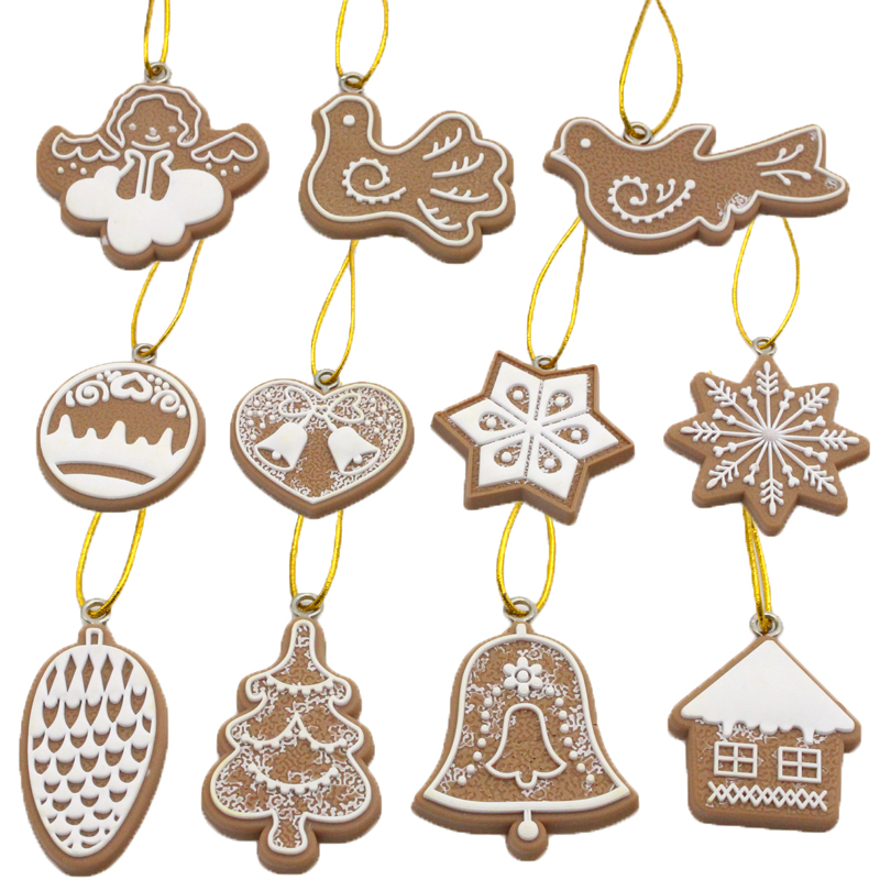 Christmas Crackers Cartoon.Us 3 38 15 Off Polymer Clay Christmas Tree Ornaments Snowflake Cartoon Crackers Party Home Christmas Decoration 1set Lot 11pcs Set H0104 In