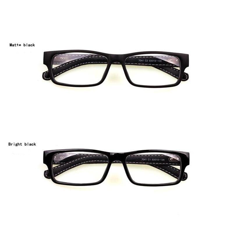 Mincl Gimmax occhiali cornice di piazza annata degli occhiali in pelle nera miopia  occhiali di vetro pianura in Mincl Gimmax occhiali cornice di piazza ... e007683d49
