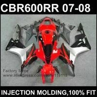 Red 100%Injection molding fairing partsfor HONDA F5 CBR 600 RR fairings 2007 2008 cbr600rr 07 08 custom fairing+7Gifts
