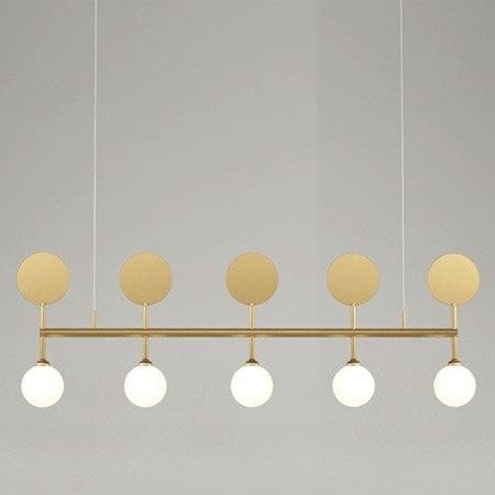 מודרני תליית מנורת אור LED אוכל מיטת חדר שינה מבואה עגול זכוכית כדור שחור זהב נורדי פשוט מודרני תליון אור מנורה-באורות תלויים מתוך פנסים ותאורה באתר