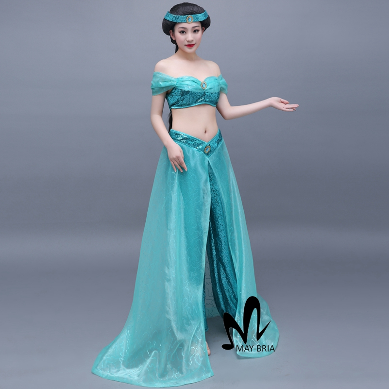 Online Shop Aladdin and the Magic Lamp Jasmine cosplay costume ...