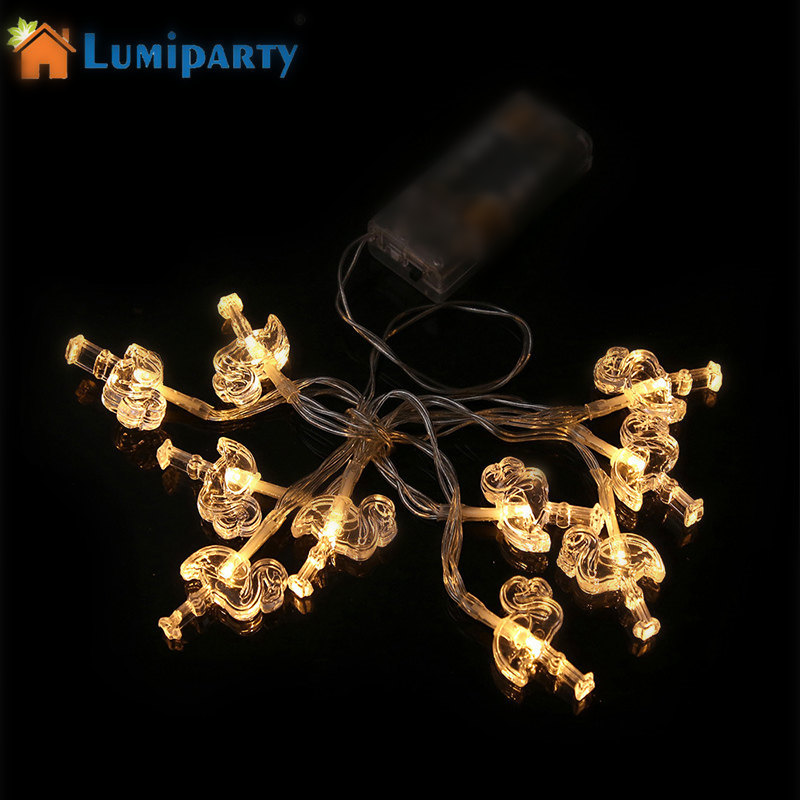 Christmas Tree Indoor Lights: LumiParty 1.2M 10 LED Flamingo String Lights Outdoor