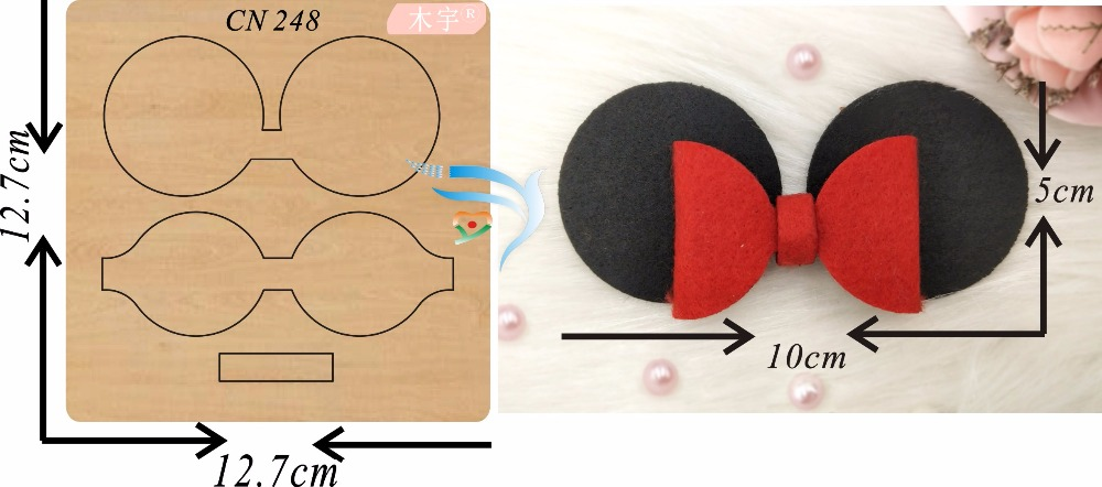 Black mouse ear bow new wooden mould cutting dies for scrapbooking Thickness 15 8mm