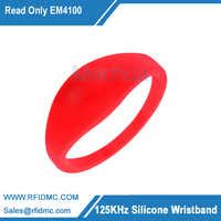 Nur lesen 125 khz RFID EM4100/TK4100 Armband Armband Silikon RFID Band Access Control-Card