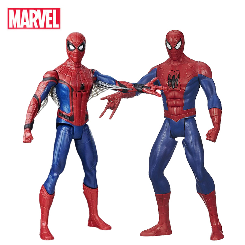 30cm Marvel Avengers Spiderman Phrase&Sounds Effects Electronic Spiderman Action Figure Toys Collection Dolls For Children