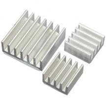 20set 60pcs/lot Adhesive Aluminum Heatsink Radiator Cooler Kit For Cooling Raspberry Pi New Heat Sink Fans Free Shipping