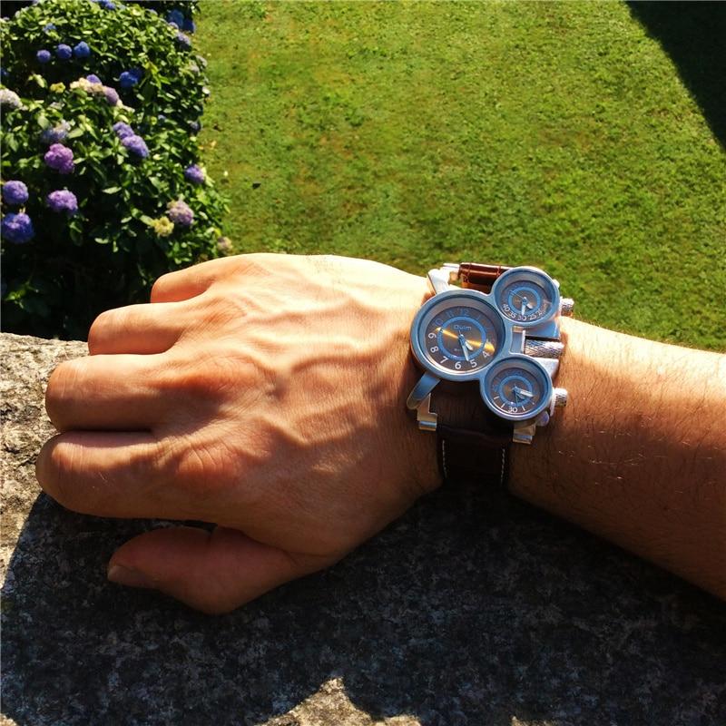 Ρολόγια για άνδρες Oulm Κορυφαία μάρκα - Ανδρικά ρολόγια - Φωτογραφία 3