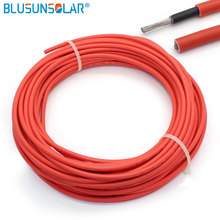 Copper-Conductor Wire Pv-Cable 6mm2 10AWG Jacket XLPE Red 10-Meters/Roll Black EN50618