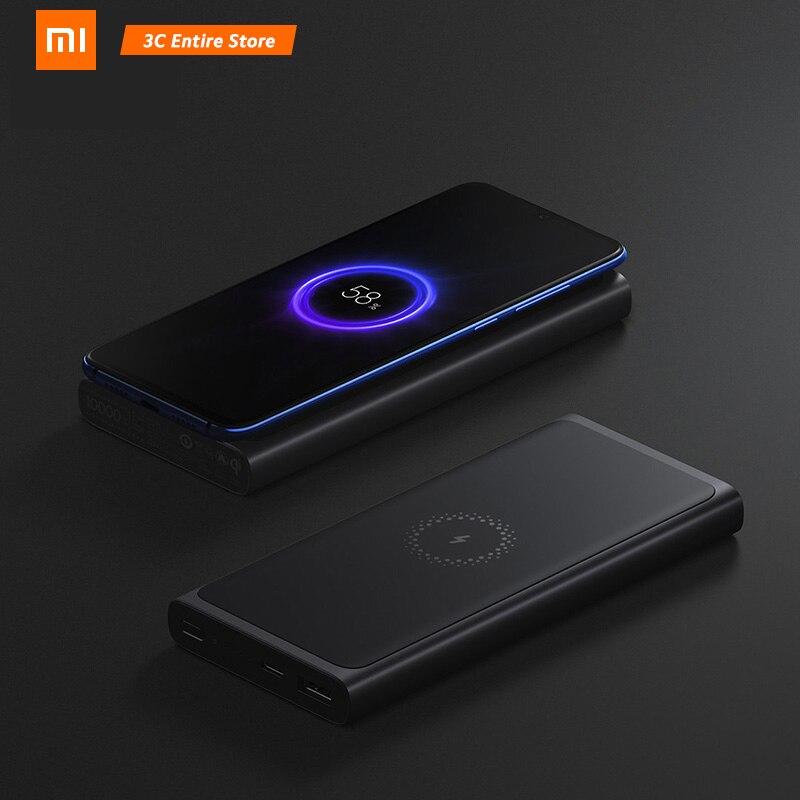 Xiao mi batterie externe sans fil 10000 mAh PLM11ZM USB type C mi Powerbank 10000 chargeur rapide sans fil qi Portable De Charge Poverbank