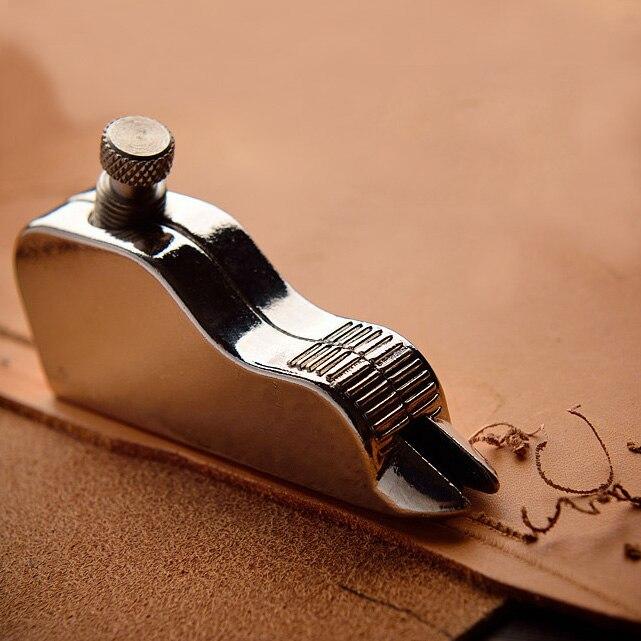 Diy professionelle edelstahl leder handwerk einstellbare pro stitching groover falte leder werkzeuge