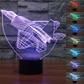NEW Aircraft 3D Night Lights warplanes Fighter Table lamp Multi Colors military jet plane with USB Power Decor Gift