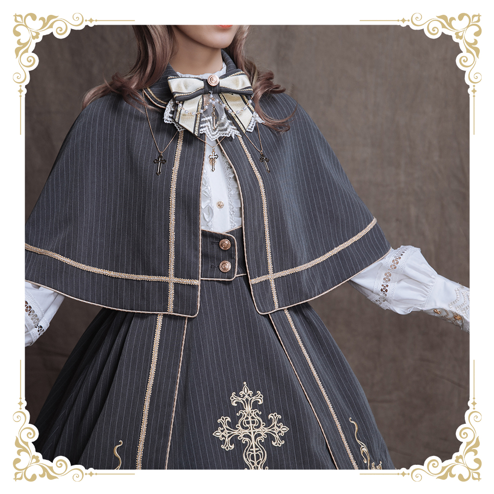 2019 Real New Spot Tail Sika Original Shenghui Cross Small Object Lolita Autumn And Winter Everyday Coat Headdress Long Sleeves