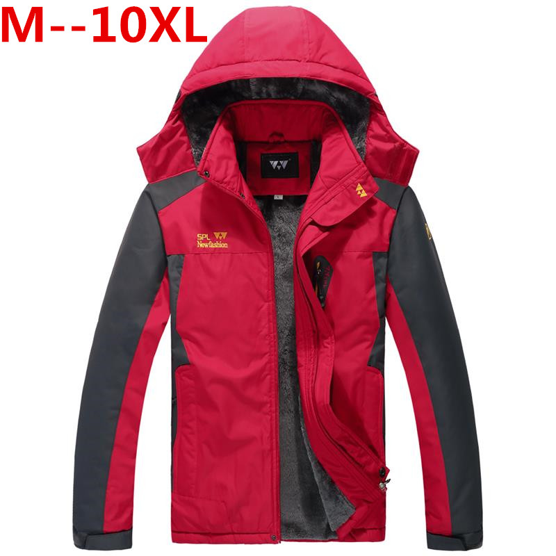 Plus size 10XL 9XL 8XL 6XL 5XL 4XL 5 Colors Warm Outwear Winter Jacket Men Windproof Hood Men Jacket Warm Men Parkas Large big женский закрытый купальник yqe 4xl 5xl 6xl 7xl 8xl 9xl 10xl 11xl 12xl 2376