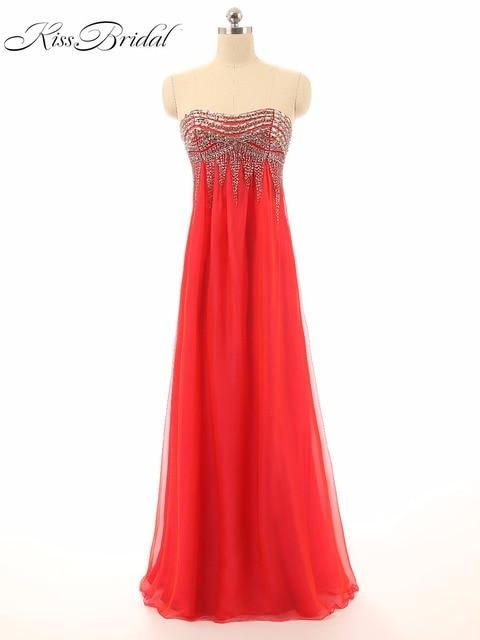 Elegant Red Prom Dresses Sweetheart Sleeveless Floor Length Long ...