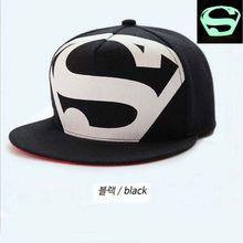 2016 versión coreana Superman SnapBack hueso fluorescente impresión  sombrero gorras verano afluencia unisex hip-hop plana gorra . 3617621177e