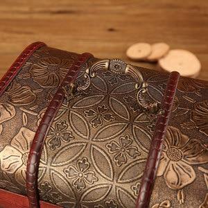Image 5 - Large Vintage Metal Lock Trinket Jewelry Storage Box Organizer Handmade Decorative Wooden Treasure Case Chest Gift