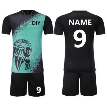 Koszulki piłkarskie dla dzieci zestaw sportowy odzież męska zestaw koszulek do piłki nożnej mundury koszulki tenisowe spodenki dresy Custom Print tanie i dobre opinie NoEnName_Null Chłopcy Poliester Pasuje mniejszy niż zwykle proszę sprawdzić ten sklep jest dobór informacji