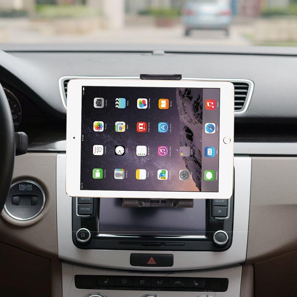 Universal 7 8 9 10 coche tablet PC soporte coche Auto CD montaje tableta PC soporte para iPad 2/3/4 5 6 aire 2 Tablet soporte de coche