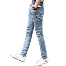 bbb94e00 Nuevo estilo coreano de los hombres pantalones vaqueros gris flacos  delgados hombre Biker Jeans con cremallera diseñador estiram.