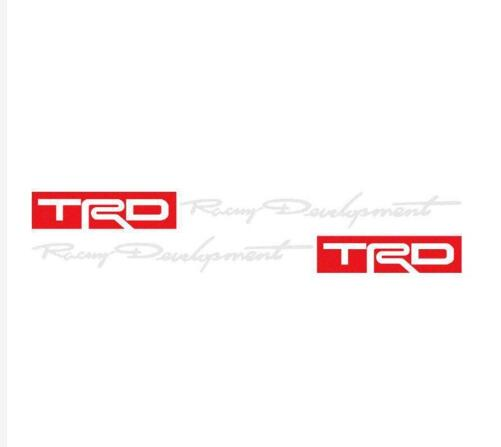 Image 3 - TRD 2PCS Car Racing Development Sticker Decals for Toyota Racing Development-in Car Stickers from Automobiles & Motorcycles