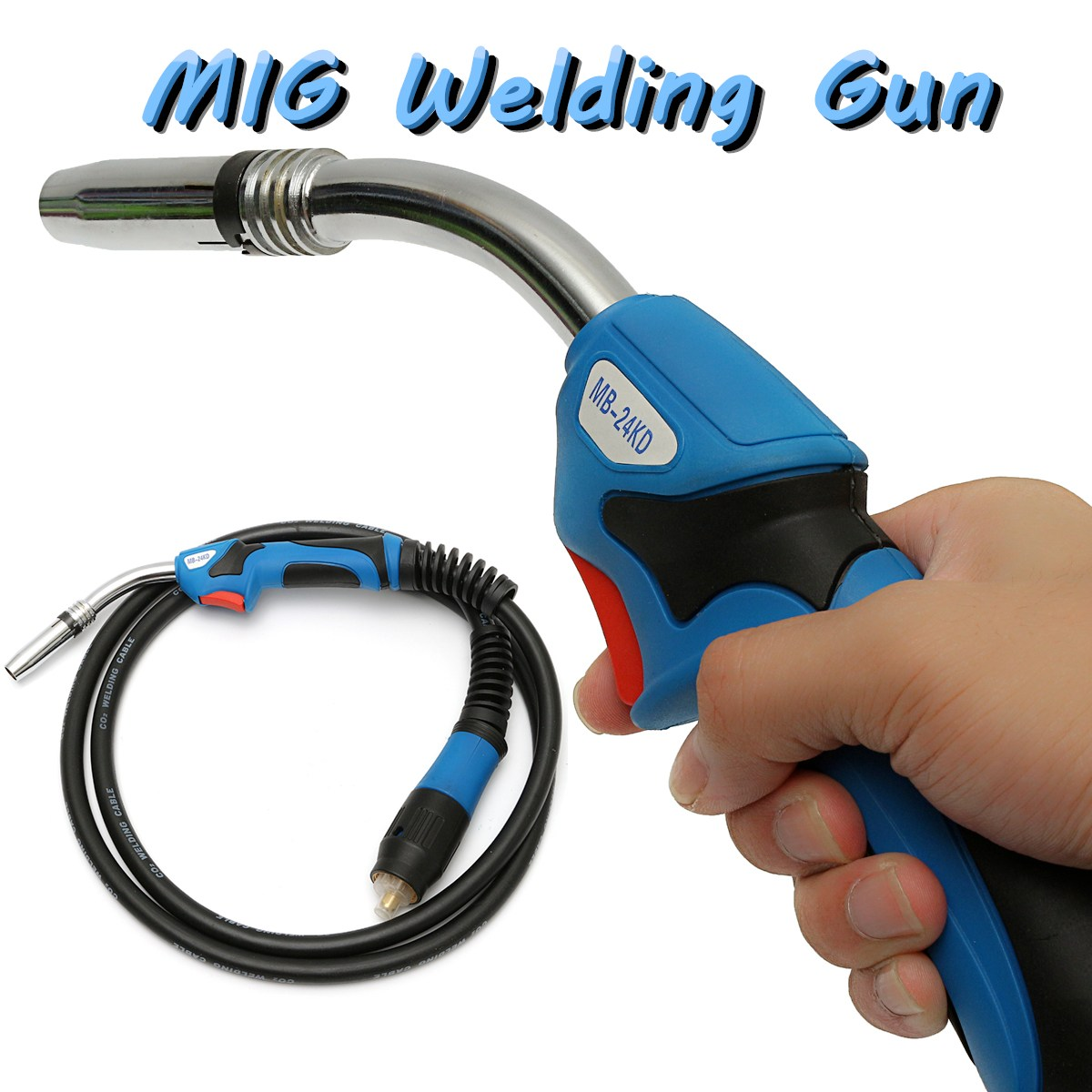 MB24 MIG Welding-Gun Torch 250 Amp with 10ft/ 3 Meter Lead Binzel Style Euro Adapter nt1 3t air cooled gas metal arc welding gun north mig welding torch coupled with twe co fitting 3 meter