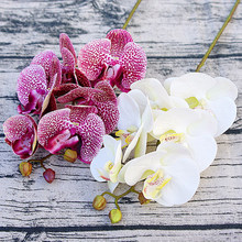 3D Artificial Butterfly Orchid Flowers Fake Moth flor Orchid Flower for Home Wedding DIY Decoration Real Touch Home Decor Flore(China)