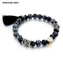 Toucheart модные эластичные браслеты из лавы для женщин и мужчин