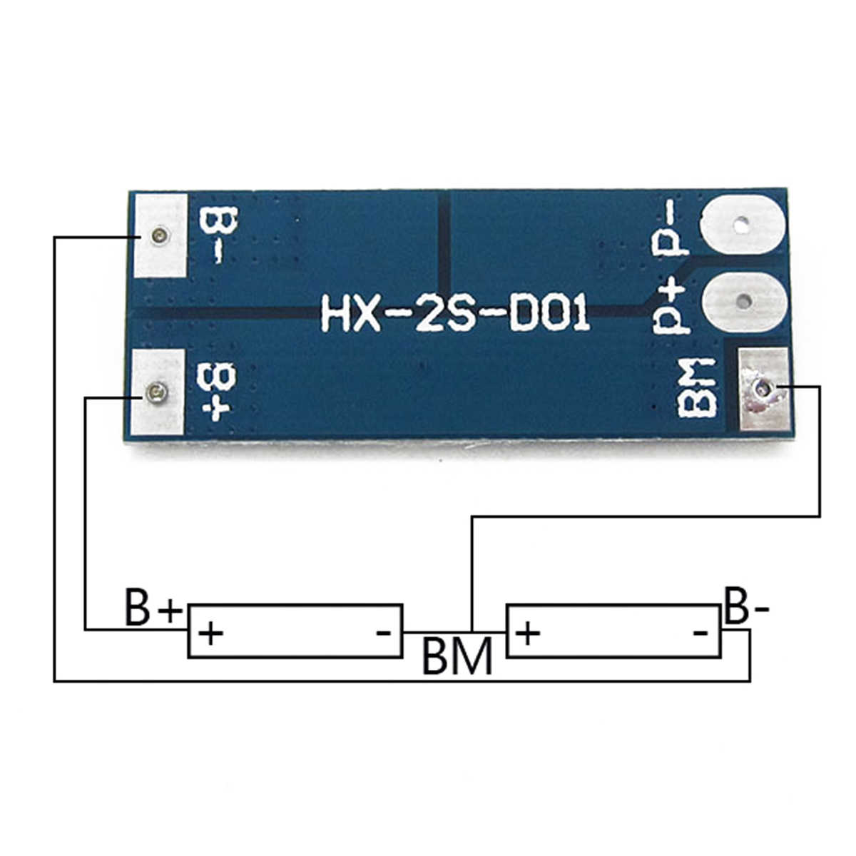 1pc 2S 8A 7.4V 8.4V Batteria Al Litio LiPo Cell Li-Ion BMS 18650 Bordo di Protezione da Corto Circuito di protezione Formato 41*16*3.5 millimetri