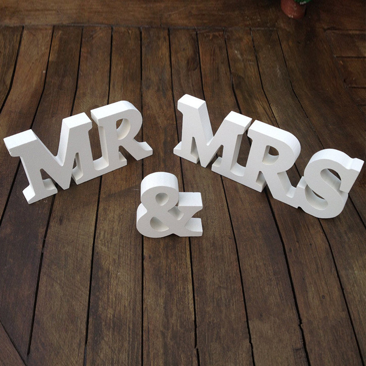 rustic wedding table decoration wooden letters mr mrs marriage anniversary party supply centerpiecechina