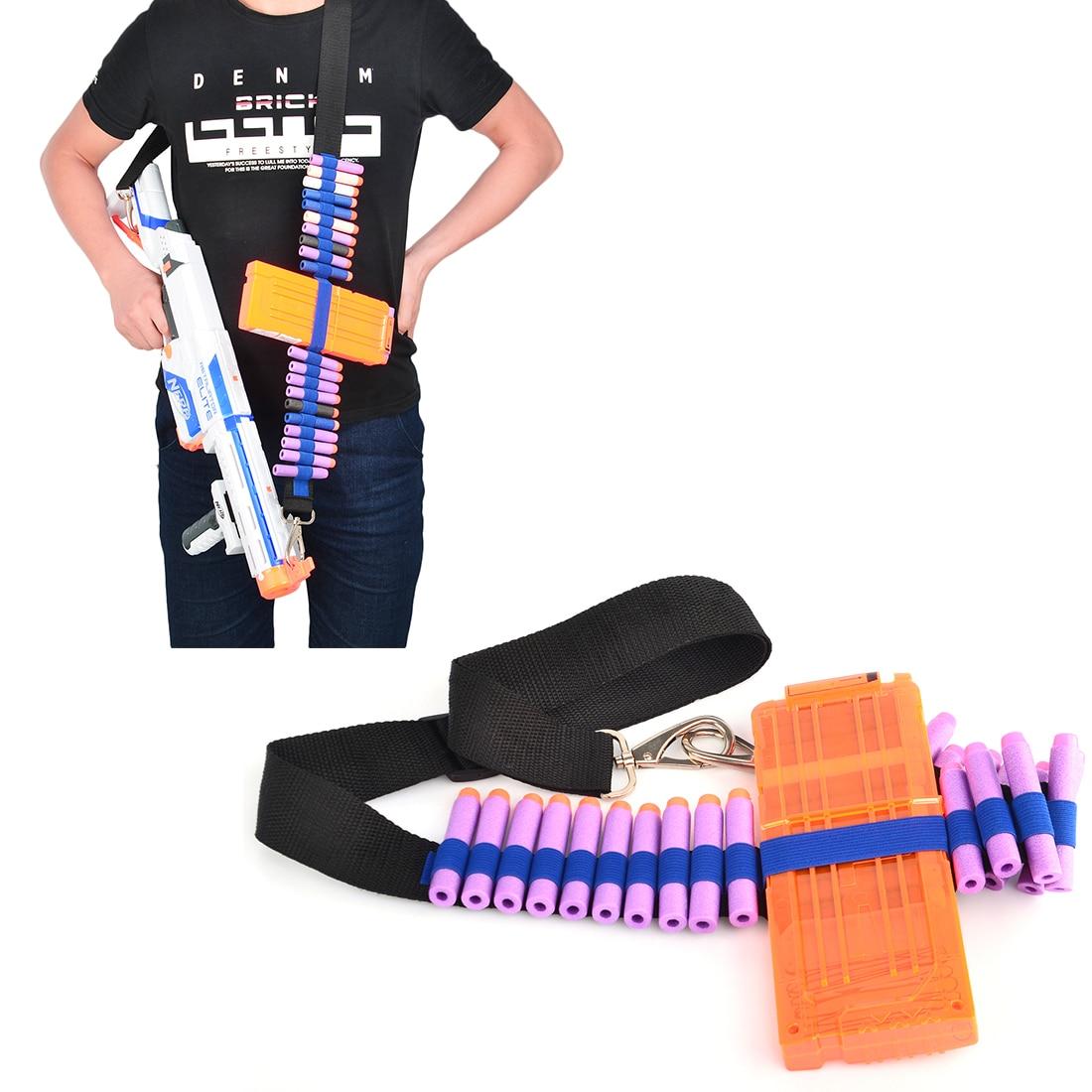 Rowsfire патронташ для Нерфа n-удар Элитной серии Регулируемый мягкий пуля тактический ремень Дартс боеприпасы хранения плечевой ремень- синий