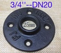 (Para DN20-3/4''Pipe furo Interno: 25mm) tubos de ferro Fundido Industrial Do Vintage Preto flange base da lâmpada base de DIY-Base de D: 85mm